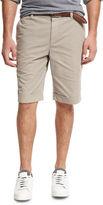 Brunello Cucinelli Flat-Front Cotton Shorts
