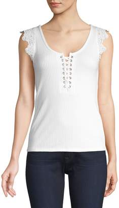 Generation Love Emilia Lace-Up Tank Top