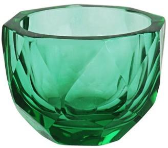 "Aspen Creative Corporation Aspen Creative Green Glass Votive Candle Holder 3"" Diameter x 2-1/2"" Height, 1 Pack"