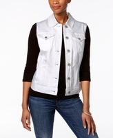 Style&Co. Style & Co Style & Co Petite Denim Vest, Created for Macy's