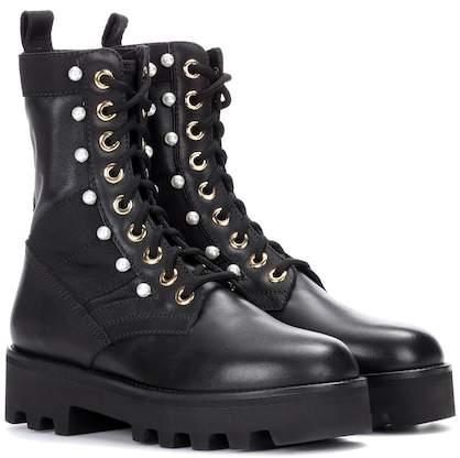 Altuzarra Embellished leather ankle boots