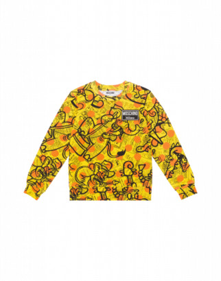Moschino Yellow Pages Sweatshirt Man Yellow Size 4a It - (4y Us)