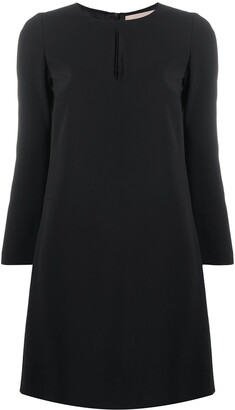 Blanca Vita Keyhole-Neck Shift Dress