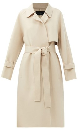 Joseph Cottrell Felted Wool-blend Trench Coat - Cream