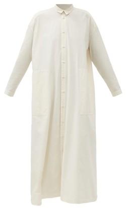 Toogood The Draughtsman Longline Cotton-poplin Shirt Dress - Cream