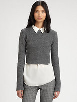 A.L.C. Leitar Cropped Ribbed Sweater