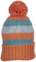 Kiwi Pom Pom Hat (Toddler/Kid) - Red/Teal/Slate-Large (4-6 Years)