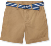 Polo Ralph Lauren Belted Stretch Cotton Short (2-7 Years)