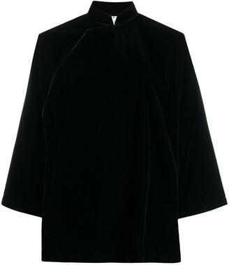 Comme des Garcons Mandarin collar velvet jacket
