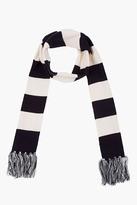 Stussy Black & White Striped Stadium Scarf