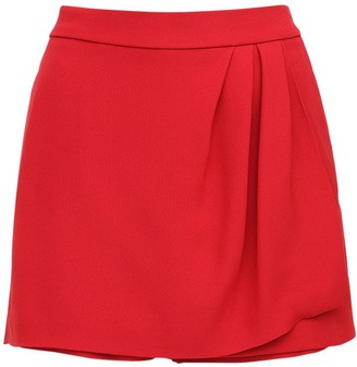 RED Valentino Draped Crepe Skort