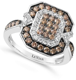 LeVian Le Vian Chocolate Diamond (3/4 ct. t.w.) & Nude Diamond (1/3 ct. t.w.) Ring in 14k White Gold