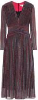 Jonathan Simkhai Metallic striped midi dress