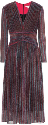 Jonathan Simkhai Metallic striped midi dress