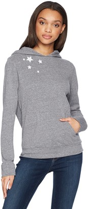 Monrow Women's Pullover Hoody with Embroidered Stars