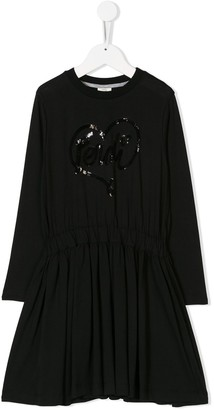 Fendi Logo Long-Sleeve Dress