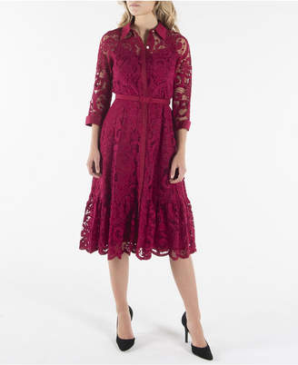Nanette Lepore nanette 3/4 Sleeve Shirtdress with Contrast Fabric
