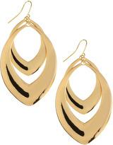 Greenbeads Double-Drop Hoop Earrings, Golden