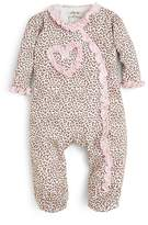 Little Me Girls' Leopard Footie - Baby