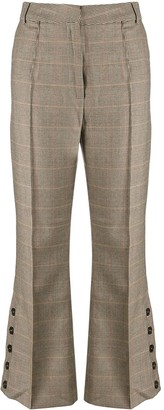 Rokh Buttoned Houndstooth Trousers