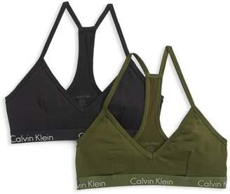 Calvin Klein Underwear Motive Cotton Bralette Two-Pack