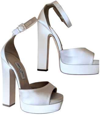 Jimmy Choo White Cloth Sandals