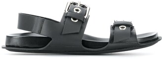 Marni Buckle-Strap Leather Sandals
