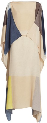 Akris Pittura Printed Silk Crepe Caftan Dress