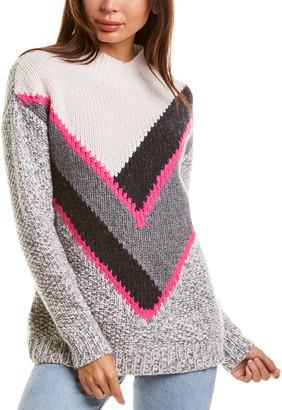 Autumn Cashmere Graphic Tweed Cashmere Sweater