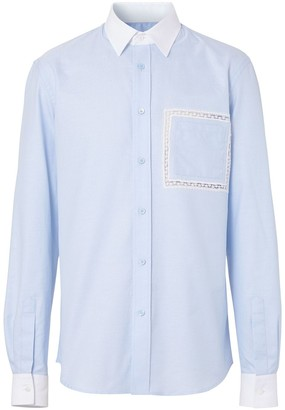Burberry lace-detail Oxford shirt