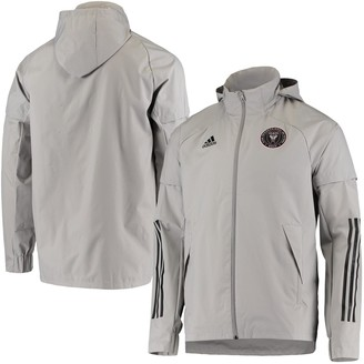 adidas Men's Gray Inter Miami CF Rain Jacket