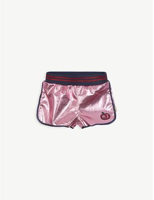 Little Marc Jacobs Metallic stripe-trim shell shorts 4-14 years