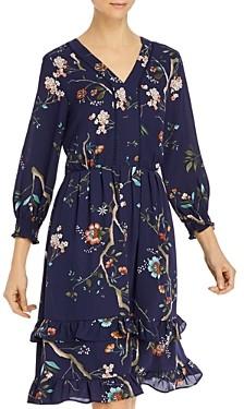 Nanette Lepore nanette Floral Print Ruffled-Skirt Dress