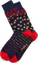 Rob-ert Arthur George by Robert Kardashian Squares Men's Socks, Navy