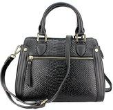 MuLier Crocodile Texture Genuine Leather Shoulder Bag Front Zipper Pocket Women Fashion Handbag
