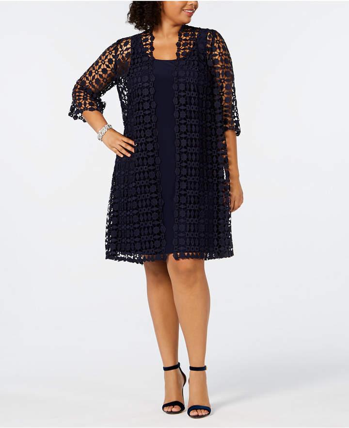 a4585cca2c Alex Evenings Blue Plus Size Dresses - ShopStyle