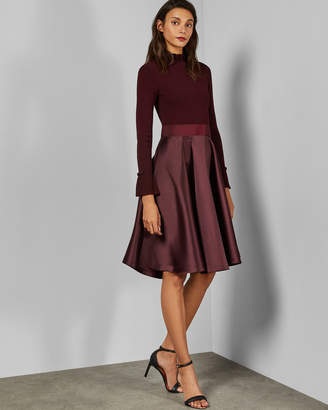 Ted Baker ZADI Frill neck full skirt dress
