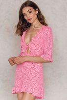 For Love & Lemons Nostalgic Tie Front Dress