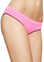 Design Lab Lord & Taylor Jacquard Seamless Ruched Back Bikini Bottom