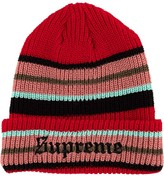 Supreme bright stripe beanie