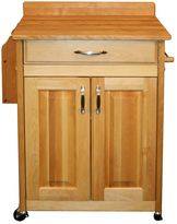 Catskill Craft Deluxe Butcher Block Top Kitchen Cart