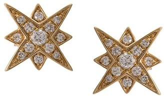 Marchesa 18kt Yellow Gold Star Diamond Studs