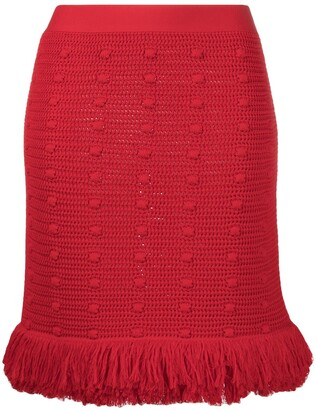 Bottega Veneta Textured Hem Mini Skirt