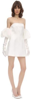 Redemption Strapless Silk Duchesse Mini Dress