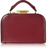 Sophie Hulme Dark Red Leather Whistle Case Bag
