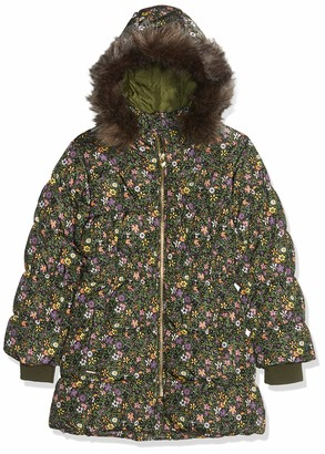 Name It Girl's Nmfmolly Down Jacket AOP Camp