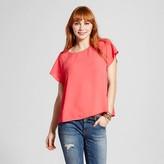 Lily Star Women's Cut Out Detail Short Sleeve Top Juniors')