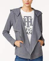Tommy Hilfiger Draped Hooded Cardigan, Only at Macy's