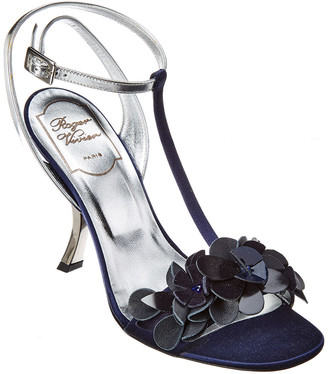 Roger Vivier Leather & Satin Sandal