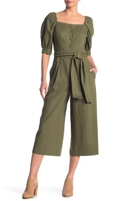 Gal Meets Glam Square Neck Puff Sleeve Jumpsuit